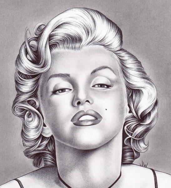 Marilyn Drawing - Marilyn Monroe by Jamie Warkentin