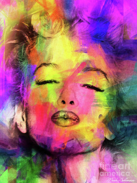 Dive Digital Art - Marilyn Monroe by Mark Ashkenazi