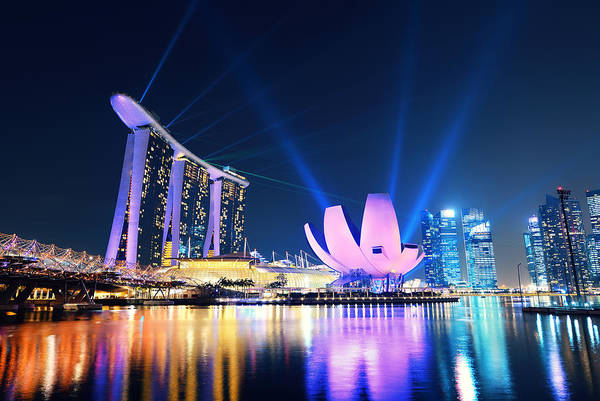 Wall Art - Photograph - Marina Bay Sands by Songquan Deng