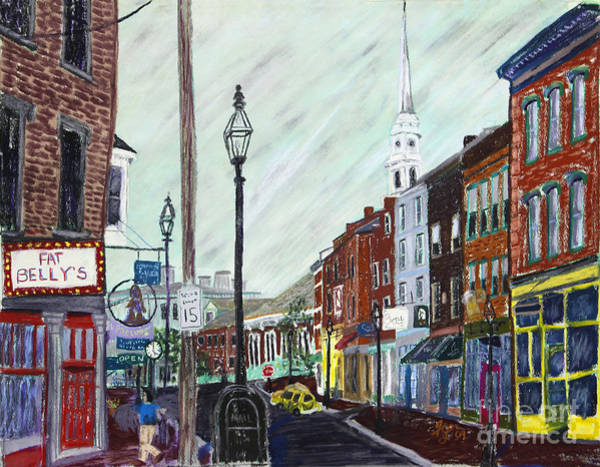 Pastel - Market Street by Francois Lamothe
