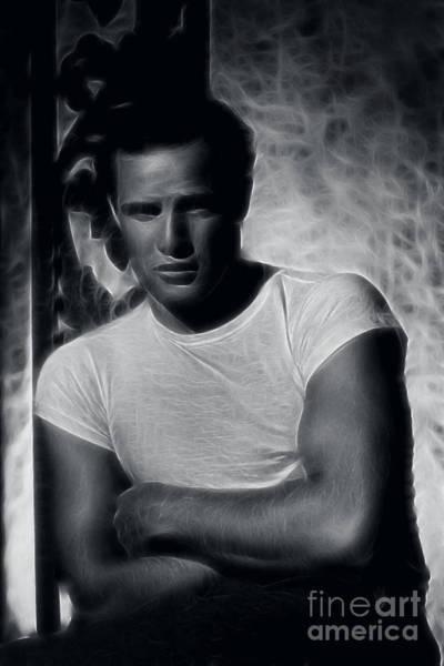 Photograph - Marlon Brando - Pencil Study by Doc Braham