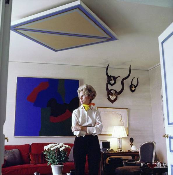 Wall Art - Photograph - Marquesa Carol De Portago At Home by Horst P. Horst
