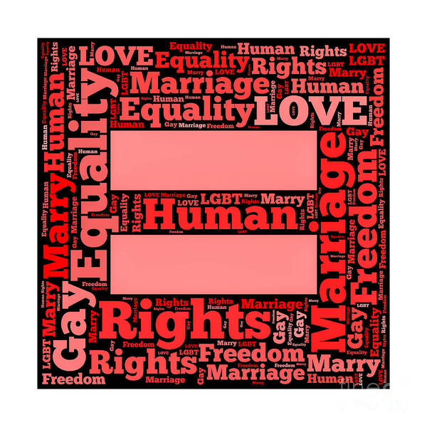Equal Rights Wall Art - Photograph - Marriage Equality For All by Amy Cicconi
