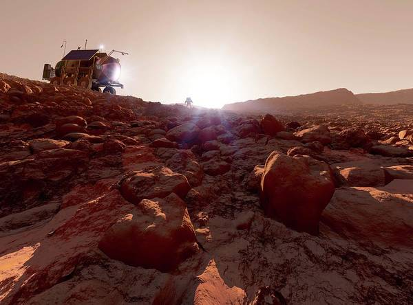 Rising Sun Photograph - Mars Exploration by Detlev Van Ravenswaay/science Photo Library