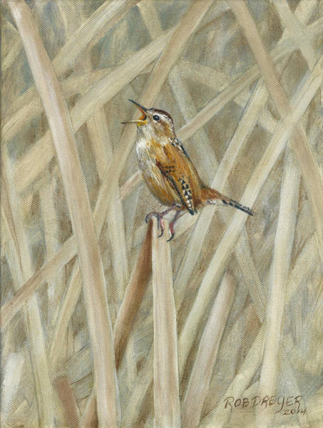 Marsh Bird Painting - Marsh Melody by Dreyer Wildlife Print Collections