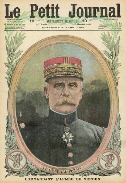 Wall Art - Drawing - Marshal Philippe Petain  French Soldier by Mary Evans Picture Library