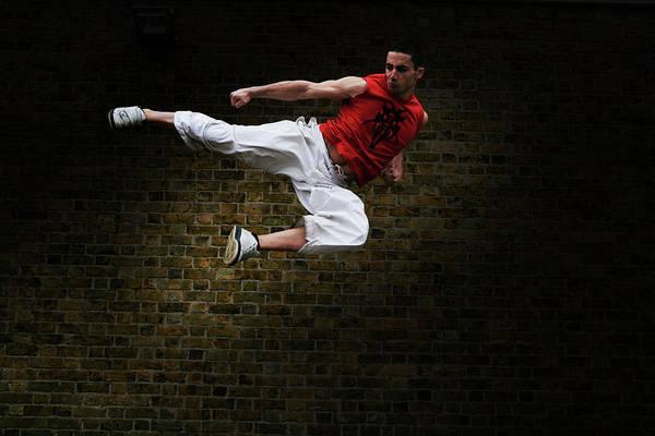 Martial Arts Kick Art Print