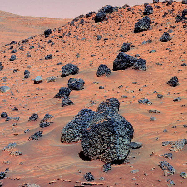 Volcanic Craters Photograph - Martian Rocks by Jpl-caltech/cornell/nmmnh/nasa/science Photo Library