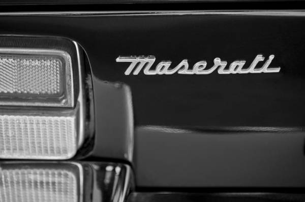 Photograph - Maserati Ghibli Ss Taillight Emblem by Jill Reger