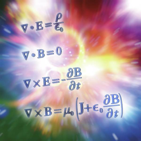 Equation Wall Art - Photograph - Maxwell's Equations by Alfred Pasieka