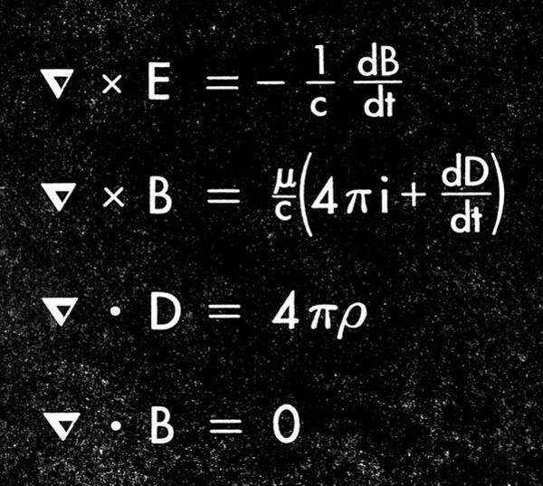 Equation Wall Art - Photograph - Maxwell's Equations by Science Photo Library