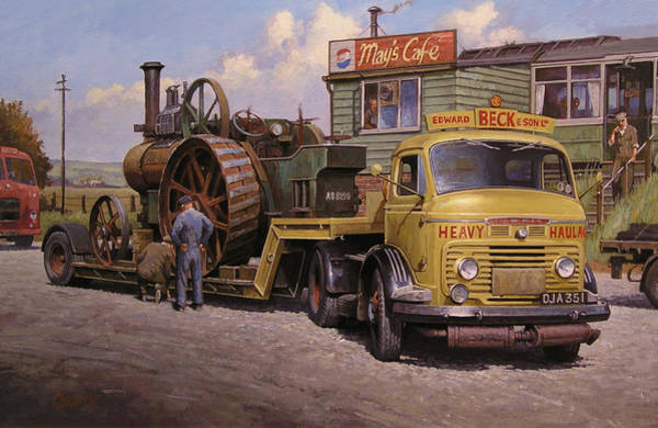 Wall Art - Painting - May's Transport Cafe. by Mike Jeffries