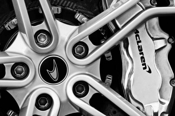 Photograph - Mclaren Wheel Emblem by Jill Reger
