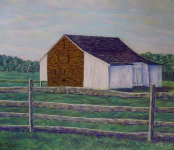Wall Art - Pastel - Mcphersons Barn Gettysburg by Joann Renner