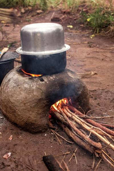 Clay Pot Photograph - Meal Being Cooked by Mauro Fermariello/science Photo Library