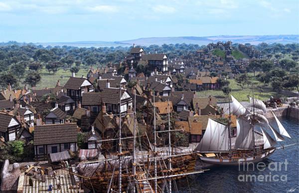 Aerial View Digital Art - Med Village by Dominic Davison
