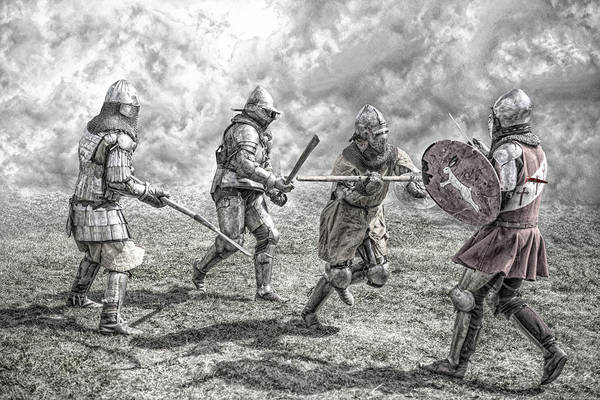 Middle Ages Photograph - Medieval Battle by Jaroslaw Grudzinski