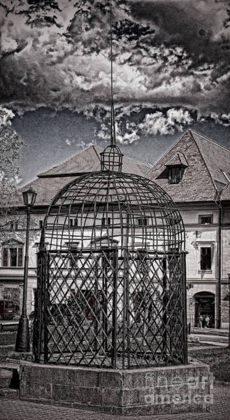 Photograph - Medieval Cage Of Shame by Les Palenik