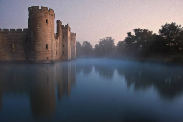 Bodiam Photograph - Medieval Castle Digital Painting by Matthew Gibson