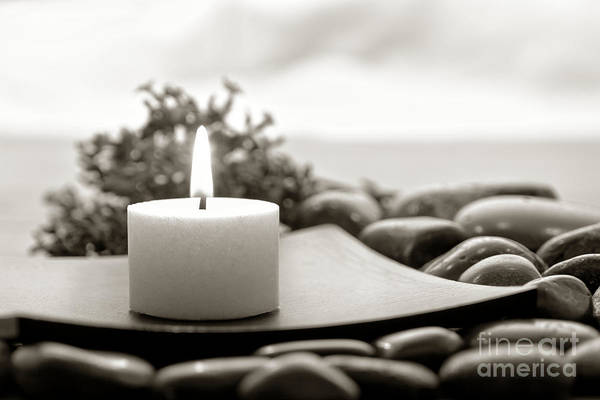 Photograph - Meditation Candle by Olivier Le Queinec