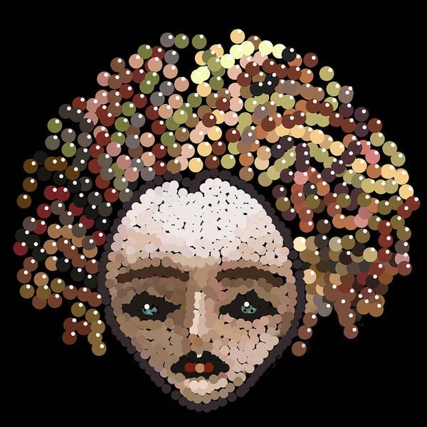 Digital Art - Medusa Bedazzled After by R  Allen Swezey