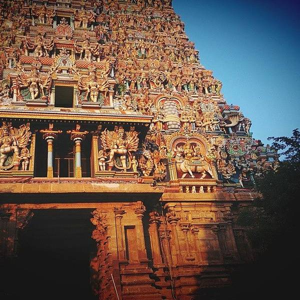 Religious Wall Art - Photograph - Meenakshi Temple by Raimond Klavins