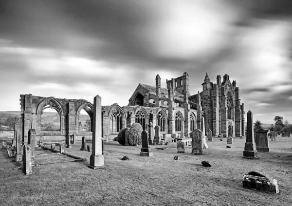 Photograph - Melrose Abbey by Grant Glendinning