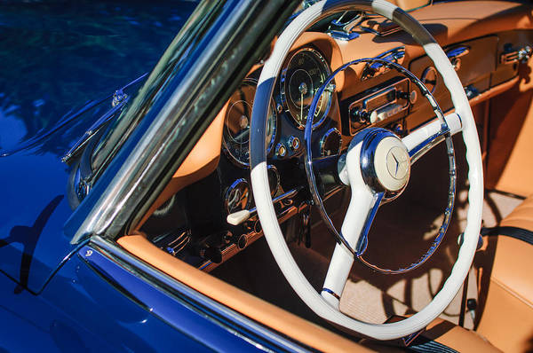 Photograph - Mercedes-benz 190sl Steering Wheel by Jill Reger