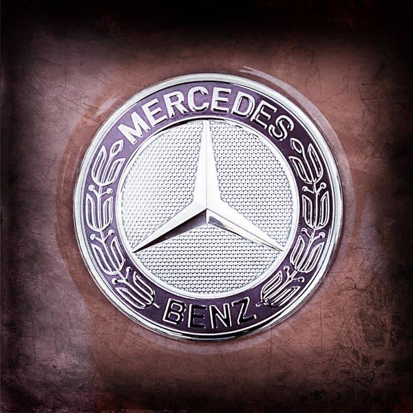 Photograph - Mercedes-benz 6.3 Amg Gullwing Emblem by Jill Reger