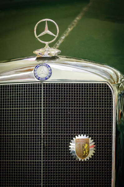 Photograph - Mercedes-benz Hood Ornament - Emblem by Jill Reger
