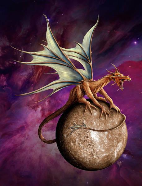 Wall Art - Painting - Mercury Dragon by MGL Meiklejohn Graphics Licensing