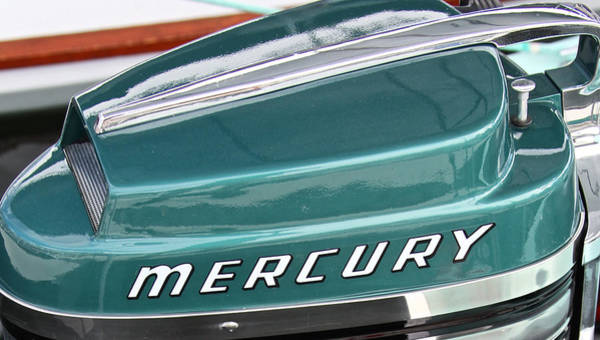 Outboard Engine Photograph - Mercury Outboard by Steven Lapkin