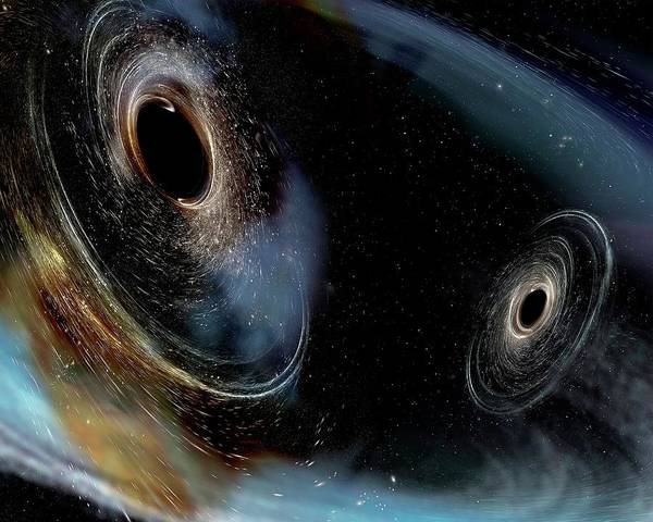 Wall Art - Photograph - Merging Black Holes by Ligo/caltech/mit/sonoma State (aurore Simonnet)/science Photo Library