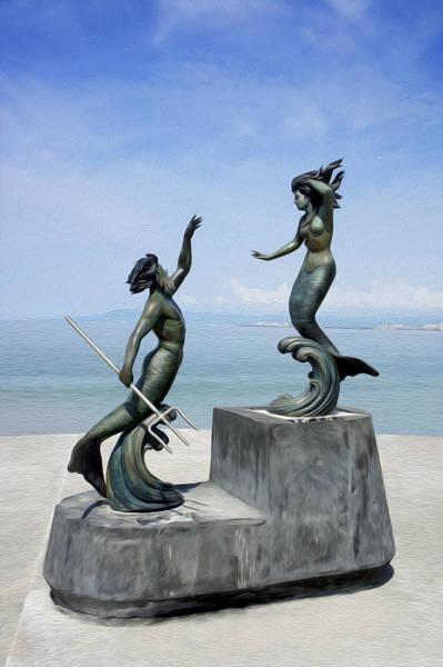 Malecon Wall Art - Photograph - Mermaids by Aged Pixel