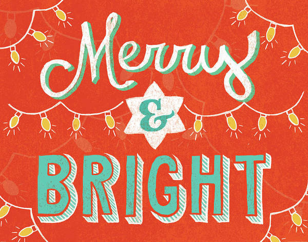White Christmas Painting - Merry And Bright by Mary Urban