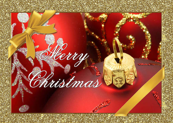Bauble Digital Art - Merry Christmas Card by Blair Wainman
