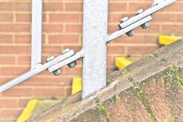 Bannister Wall Art - Photograph - Metal Railings by Tom Gowanlock