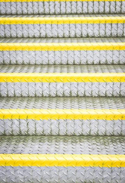 Bannister Wall Art - Photograph - Metal Steps by Tom Gowanlock