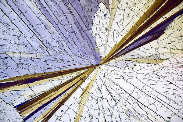 Photograph - Methyl Sulphonal Crystals, Micrograph by Science Photo Library