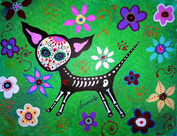 Wall Art - Painting - Mexican Chihuahua El Perrito by Pristine Cartera Turkus