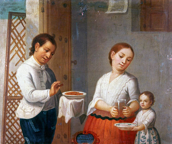 Latina Painting - Mexican Family, 1775 by Granger