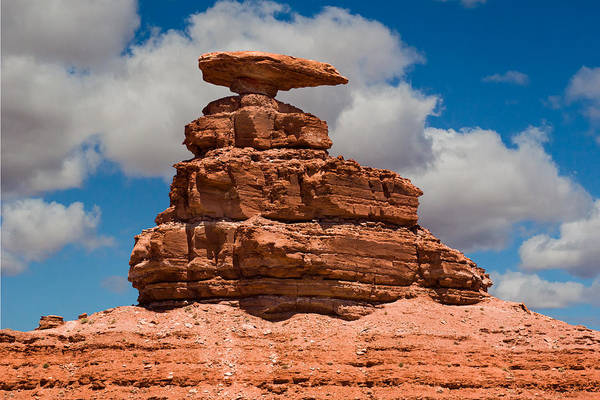 Photograph - Mexican Hat Rock by Gene Norris