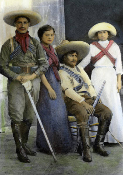 Wall Art - Photograph - Mexican Revolutionaries by Granger