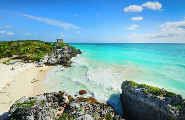 Yucatan Wall Art - Photograph - Mexico, Yucatan, Tulum, Beach With by Tetra Images