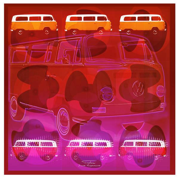 Transporter Wall Art - Drawing - Mgl - Automotive Fun Vw 01 by MGL Meiklejohn Graphics Licensing