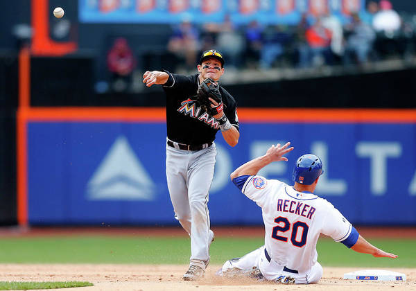 New York Mets Photograph - Miami Marlins V New York Mets by Jim Mcisaac
