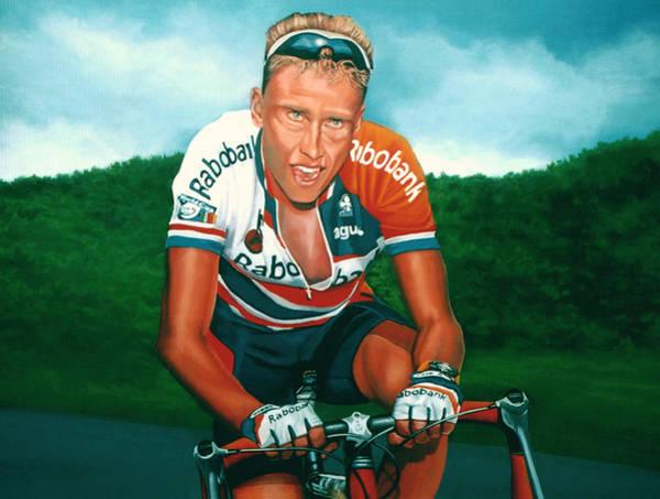 Bike Racing Painting - Michael Boogerd  by Paul Meijering