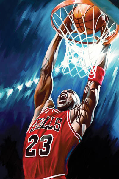Jordan Wall Art - Painting - Michael Jordan Artwork by Sheraz A