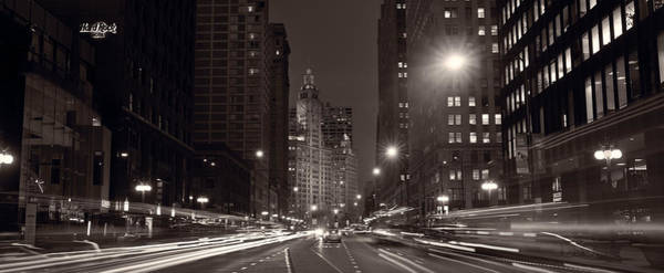 Aves Photograph - Michigan Avenue Chicago Bw by Steve Gadomski