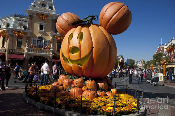 Wall Art - Photograph - Mickey Mouse Halloween Disneyland by Jason O Watson